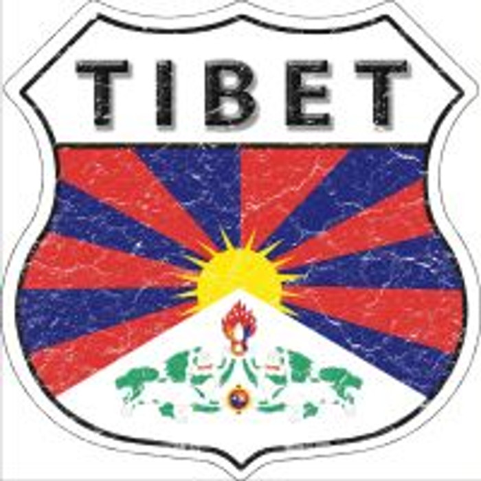 Tibet Highway Shield Novelty Metal Magnet