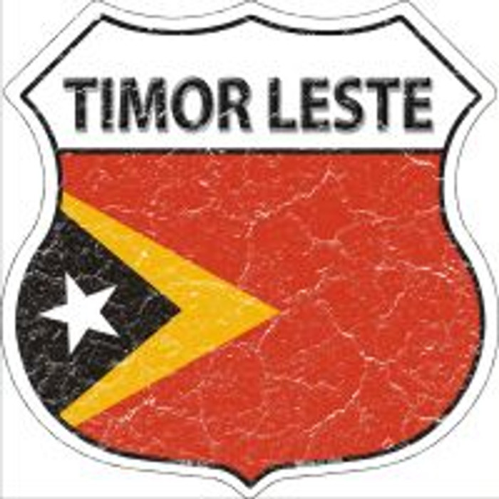 Timor Leste Highway Shield Novelty Metal Magnet