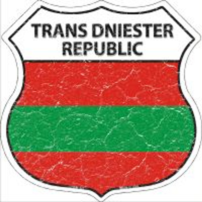 Trans Dniester Republic Highway Shield Novelty Metal Magnet