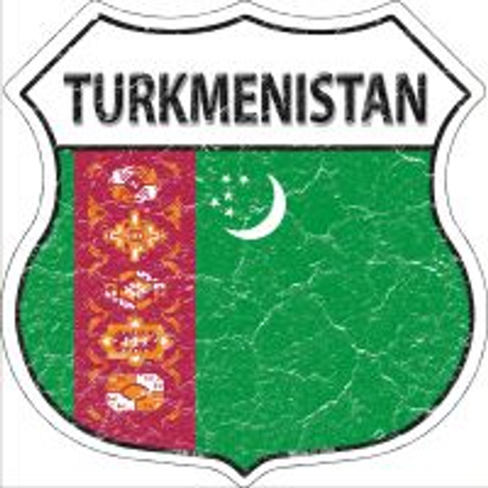 Turkmenisatan Highway Shield Novelty Metal Magnet
