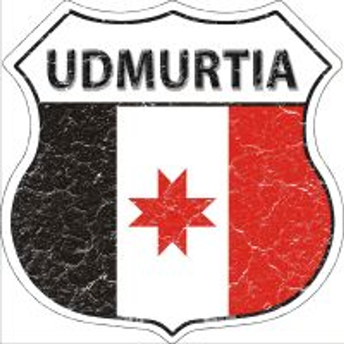 Udmurtia Highway Shield Novelty Metal Magnet