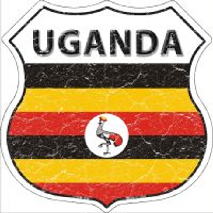 Uganda Highway Shield Novelty Metal Magnet
