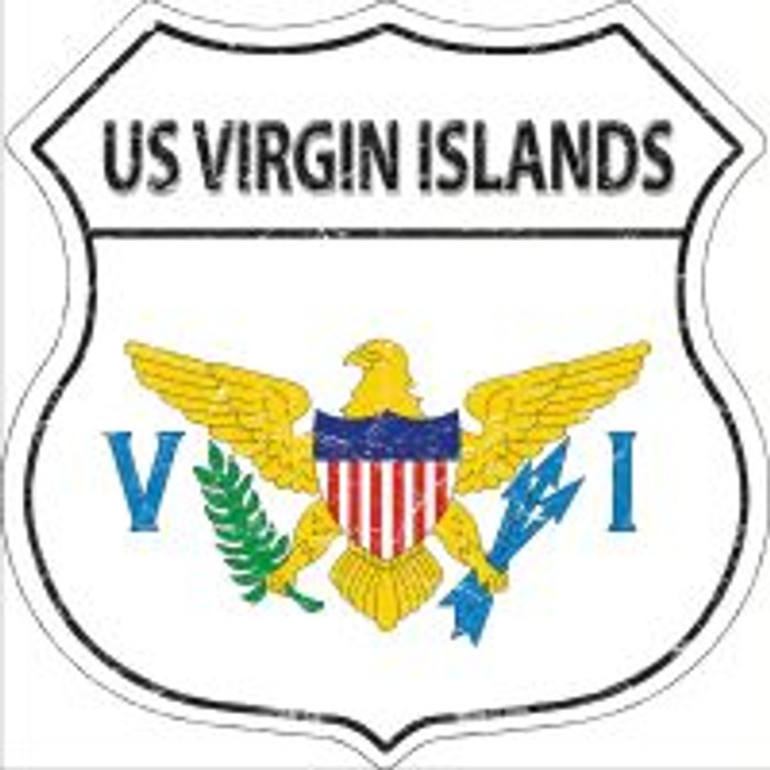 US Virgin Islands Highway Shield Novelty Metal Magnet