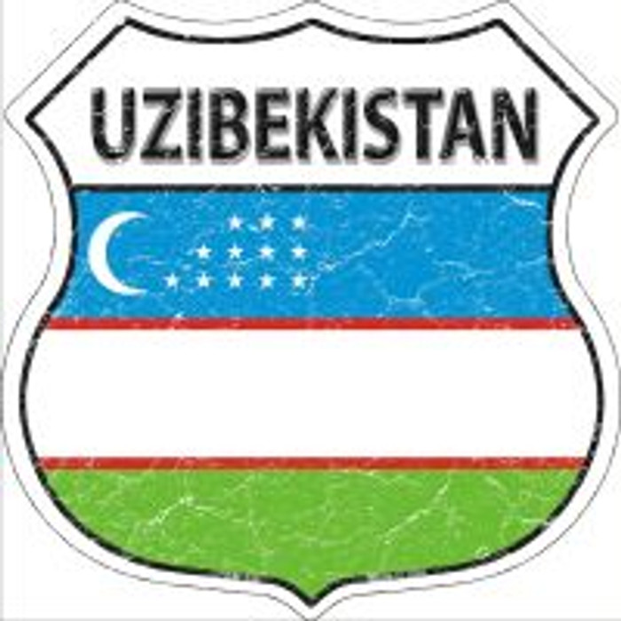 Uzibekistan Highway Shield Novelty Metal Magnet