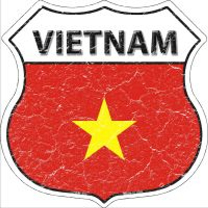 Vietnam Highway Shield Novelty Metal Magnet