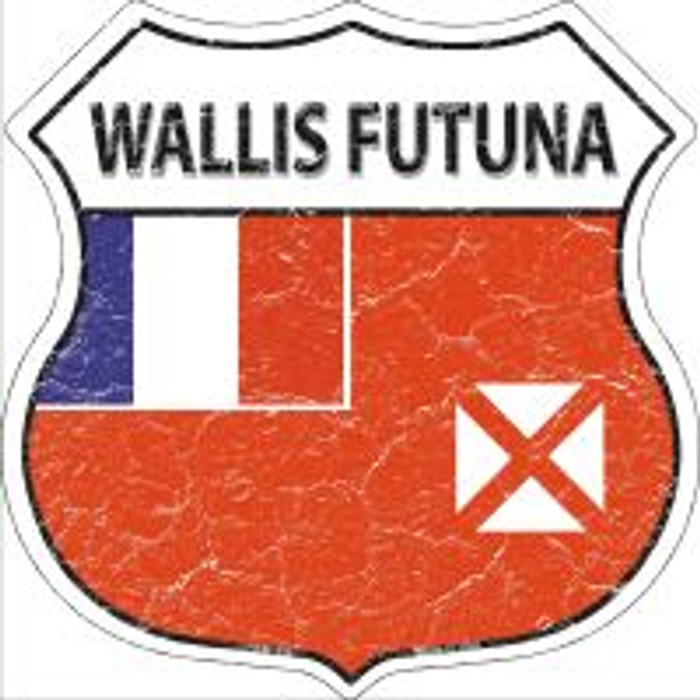 Wallis Futuna Highway Shield Novelty Metal Magnet