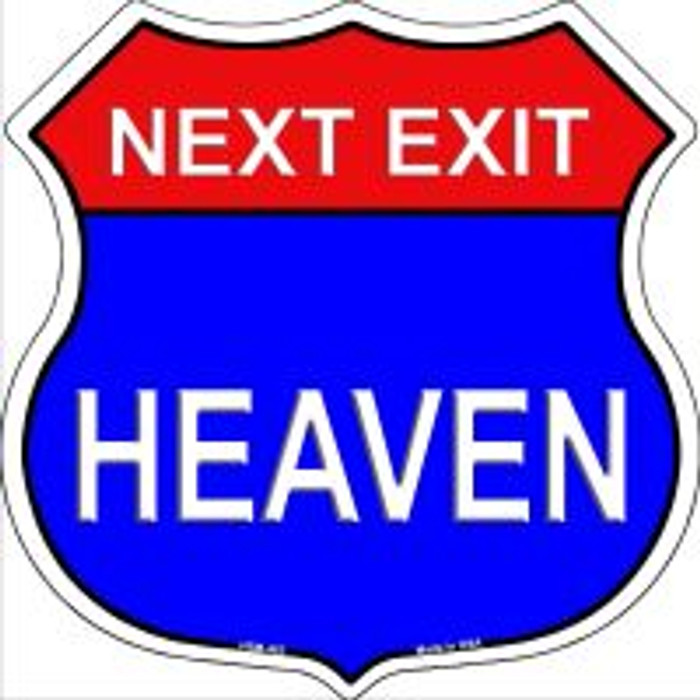 Next Exit Heaven Highway Shield Novelty Metal Magnet