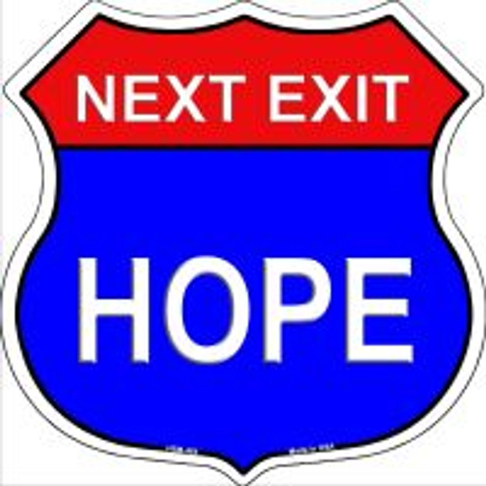 Next Exit Hope Highway Shield Novelty Metal Magnet