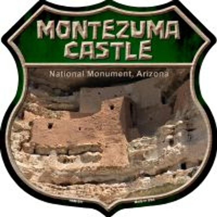 Montezuma Castle Highway Shield Novelty Metal Magnet