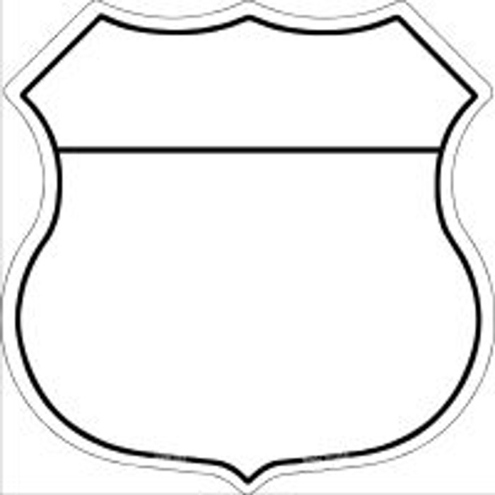 White|Black Plain Highway Shield Novelty Metal Magnet
