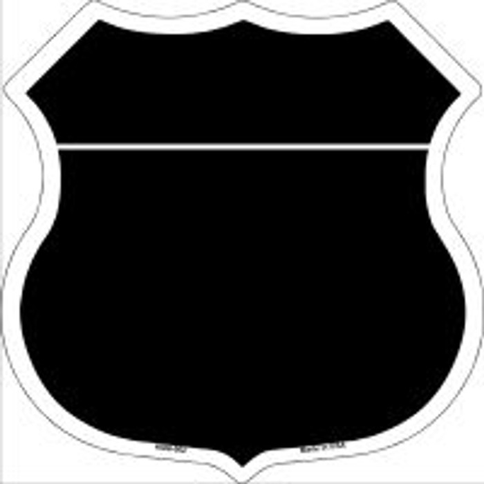 Black|White Plain Highway Shield Novelty Metal Magnet