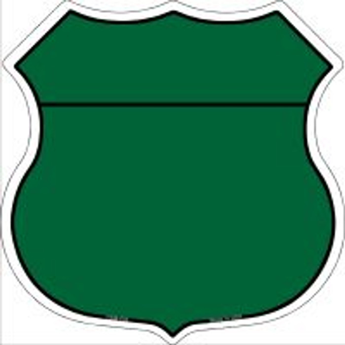 Green|Black Plain Highway Shield Novelty Metal Magnet