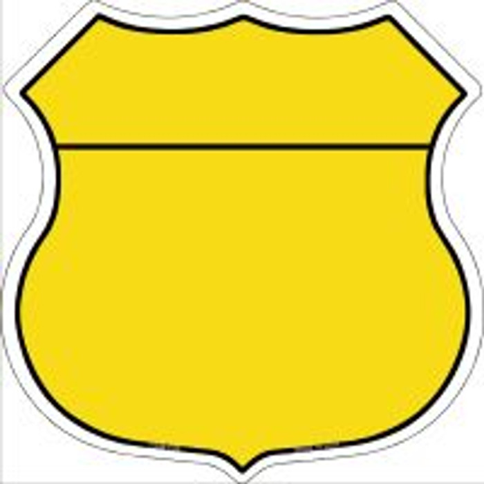 Yellow|Black Plain Highway Shield Novelty Metal Magnet