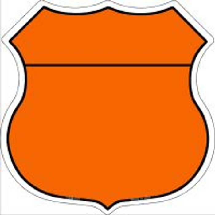 Orange|Black Plain Highway Shield Novelty Metal Magnet