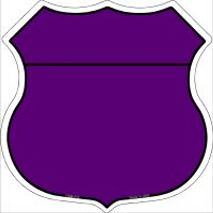Purple|Black Plain Highway Shield Novelty Metal Magnet