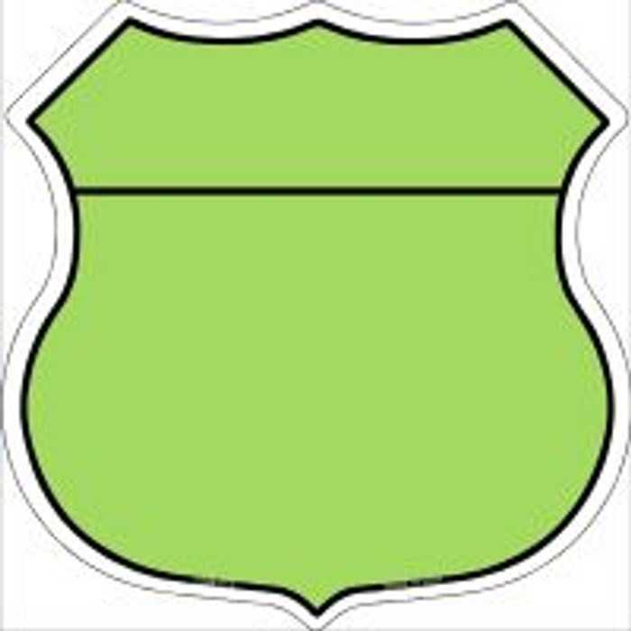 Lime Green|Black Plain Highway Shield Novelty Metal Magnet
