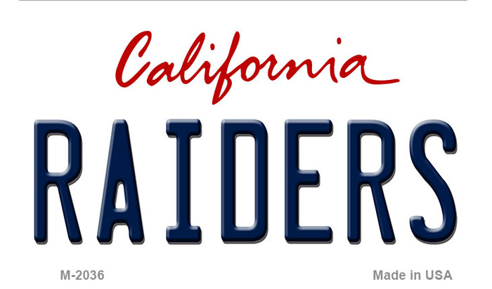 Raiders California State Background Novelty Metal Magnet