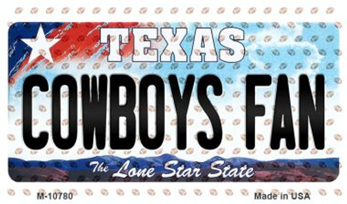 Cowboys Fan Texas Background Novelty Metal Magnet