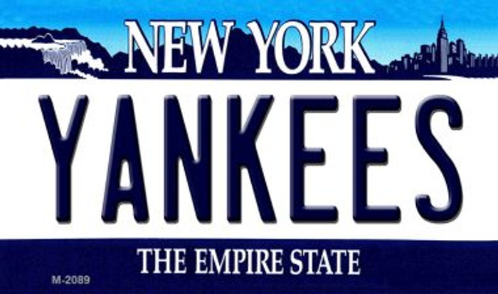 Yankees New York State Background Novelty Metal Magnet