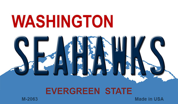 Seahawks Washington State Background Novelty Metal Magnet