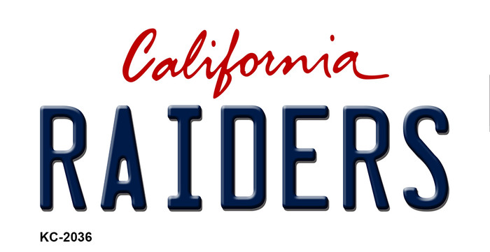 Raiders California State Background Novelty Metal Key Chain
