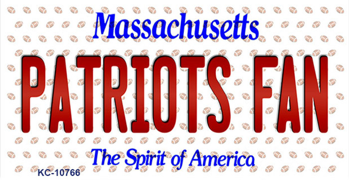 Patriots Fan Massachusetts Background Novelty Metal Key Chain