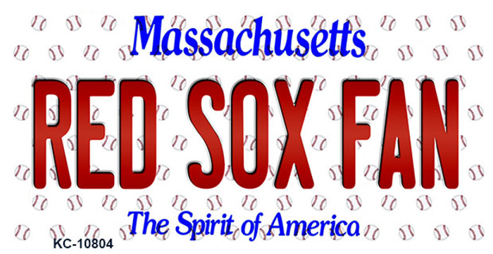 Red Sox Fan Massachusetts Background Novelty Metal Key Chain