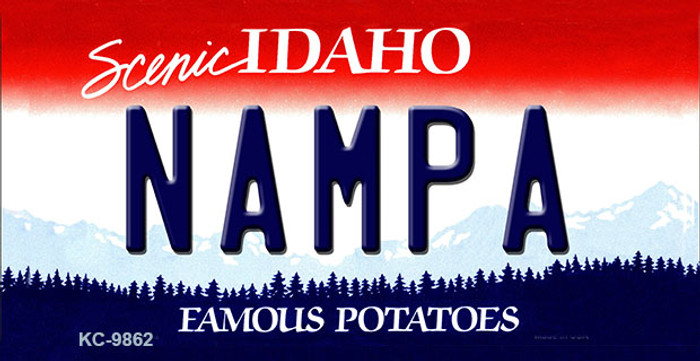 Nampa Idaho State Background Metal Novelty Key Chain