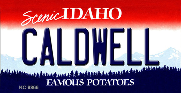 Caldwell Idaho State Background Metal Novelty Key Chain