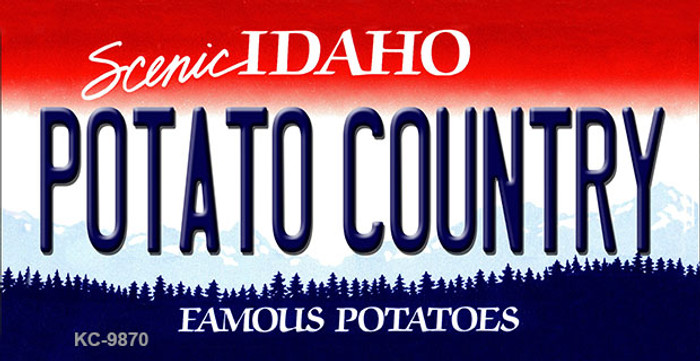Potato Country Idaho State Metal Novelty Aluminum Key Chain KC-9870