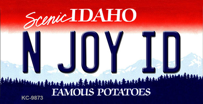 N Joy ID Idaho State Background Metal Novelty Key Chain