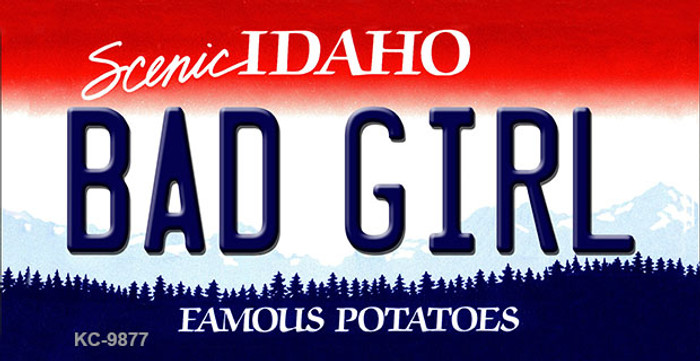 Bad Girl Idaho State Background Metal Novelty Key Chain