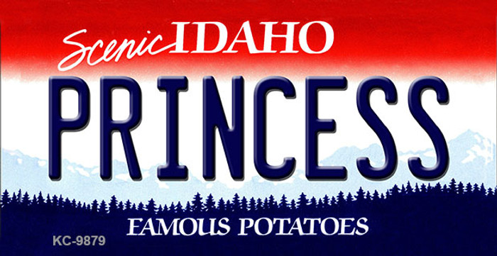 Princess Idaho State Background Metal Novelty Key Chain