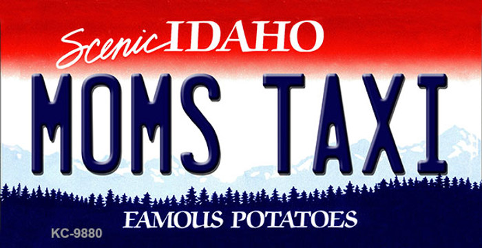 Mom's Taxi Idaho State Metal Novelty Aluminum Key Chain KC-9880