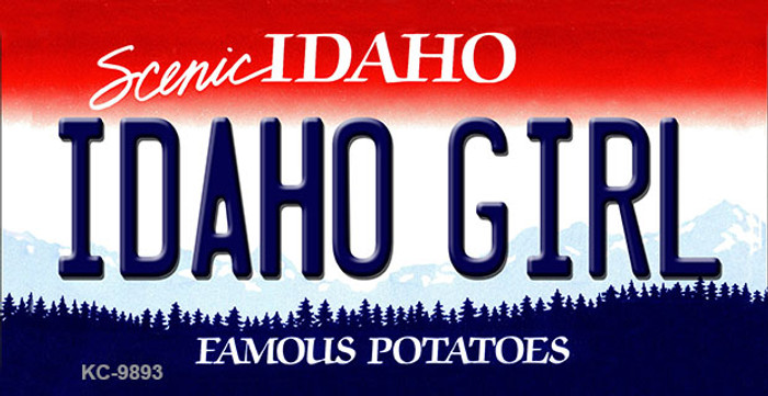 Idaho Girl Idaho State Background Wholesale Metal Novelty Key Chain
