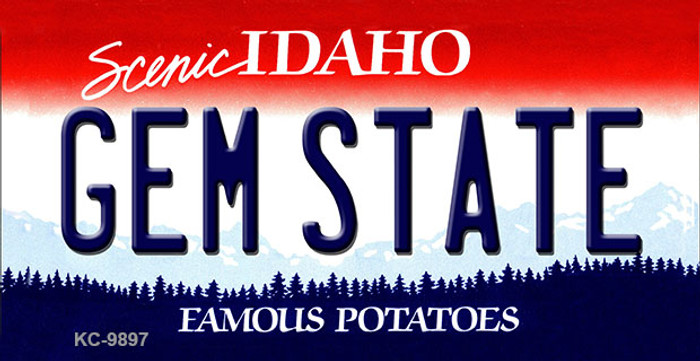 Gem State Idaho State Background Wholesale Metal Novelty Key Chain