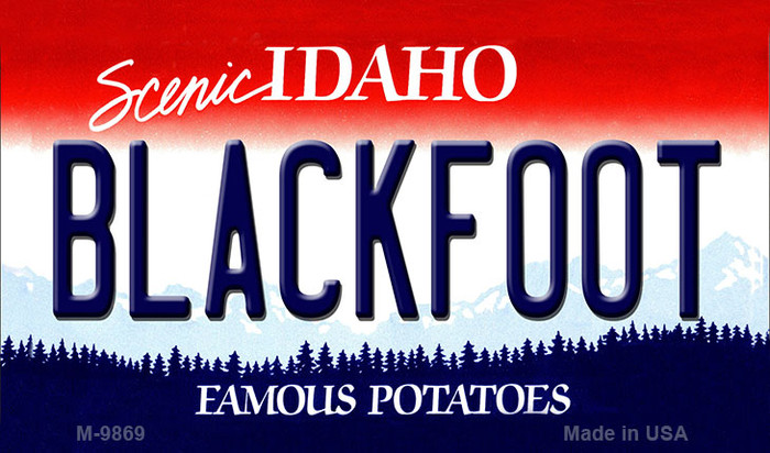 Blackfoot Idaho State Background Metal Novelty Magnet