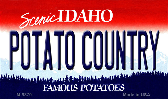 Potato Country Idaho State Background Metal Novelty Magnet