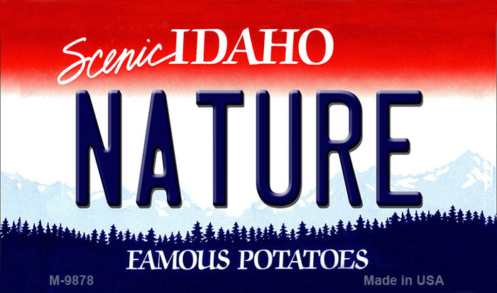 Nature Idaho State Background Metal Novelty Magnet