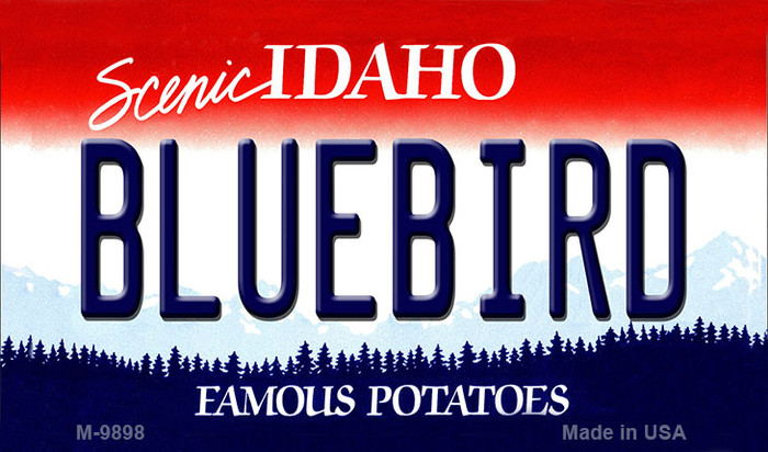 Bluebird Idaho State Background Metal Novelty Magnet