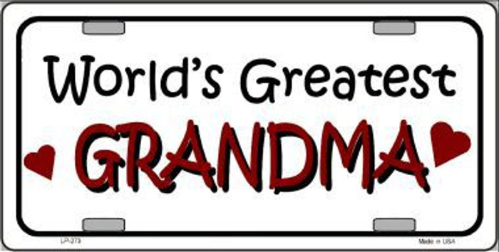 World's Greatest Grandma Metal Novelty License Plate LP-273