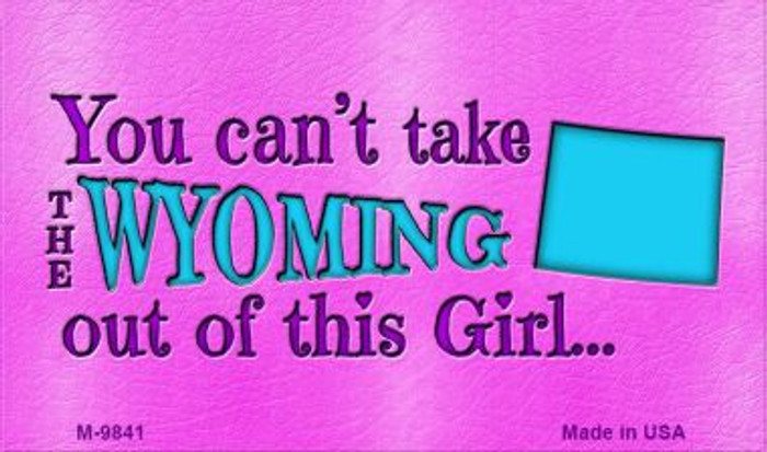 Wyoming Girl Novelty Metal Magnet