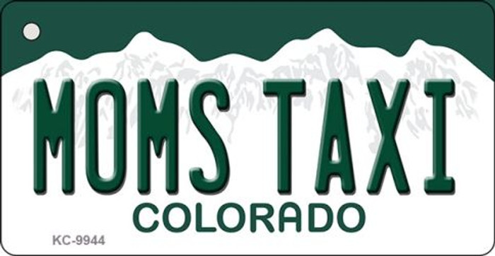 Moms Taxi Colorado Background Metal Novelty Key Chain