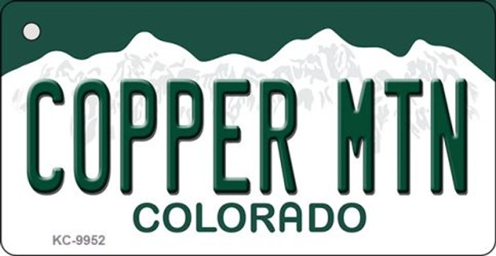 Copper Mountain Colorado Background Metal Novelty Key Chain