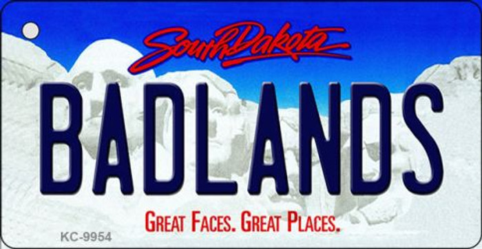 Badlands South Dakota Background Metal Novelty Key Chain