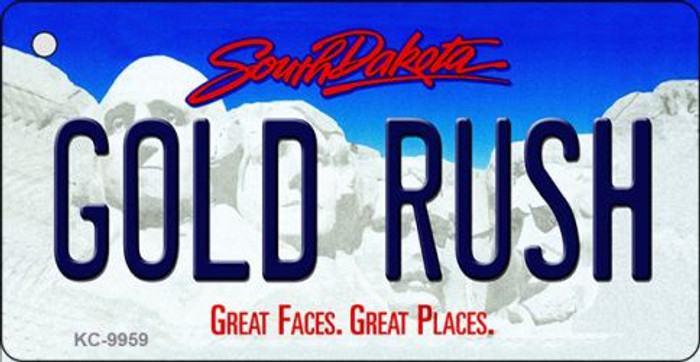 Gold Rush South Dakota Background Metal Novelty Key Chain