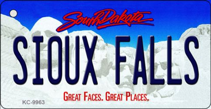 Sioux Falls South Dakota Background Metal Novelty Key Chain