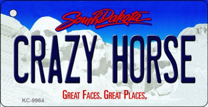 Crazy Horse South Dakota Background Metal Novelty Key Chain