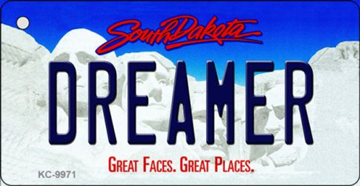 Dreamer South Dakota Background Metal Novelty Key Chain