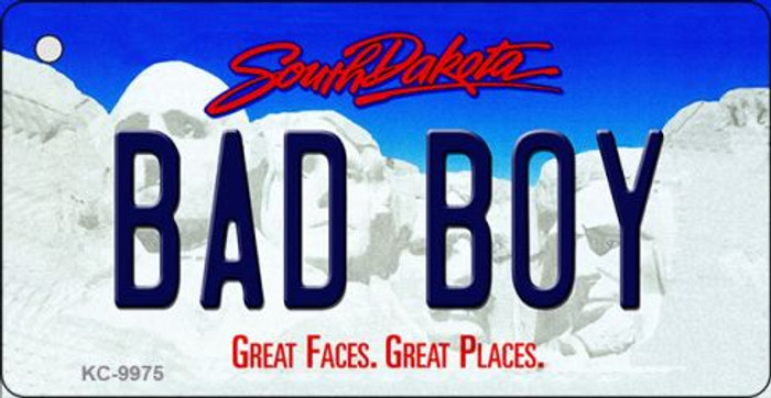 Bad Boy South Dakota Background Metal Novelty Key Chain